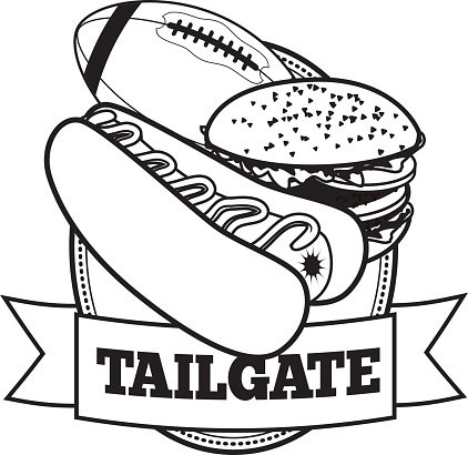 American Football Tailgate Party Icon With EPS 10 premium.