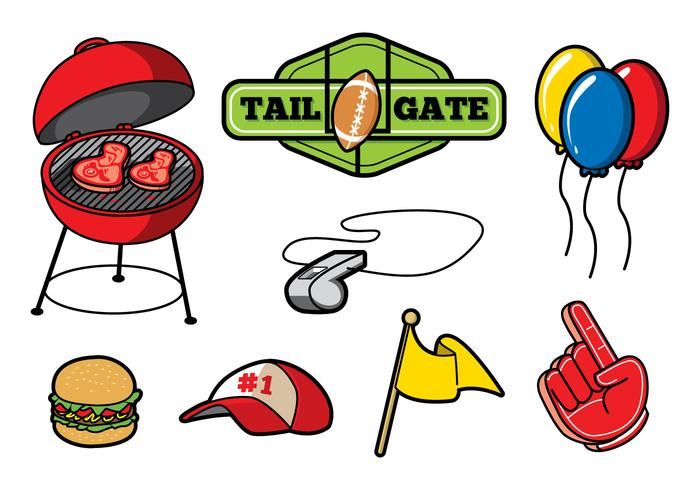 Free Tailgate Party Vector.