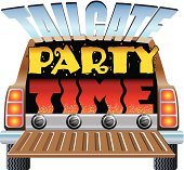 Tailgate Party Clip Art, Vector Tailgate Party.