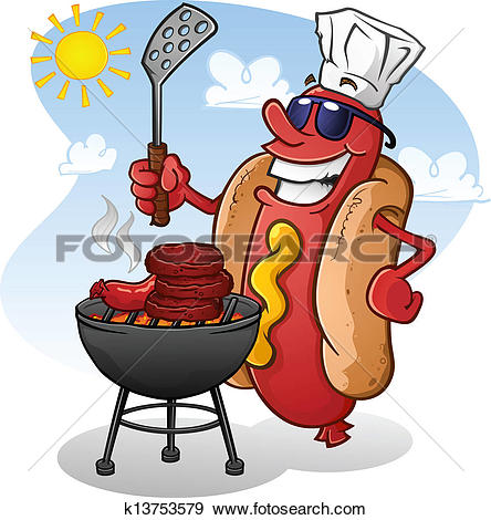 Clip Art of july4th tailgate party k9224118.