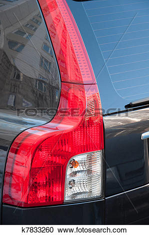 Stock Photography of Taillight car close.