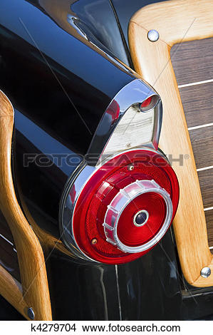 Stock Photo of Fifties Auto Taillight Fin k4279704.