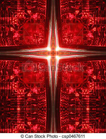 Clipart of red taillight cross.