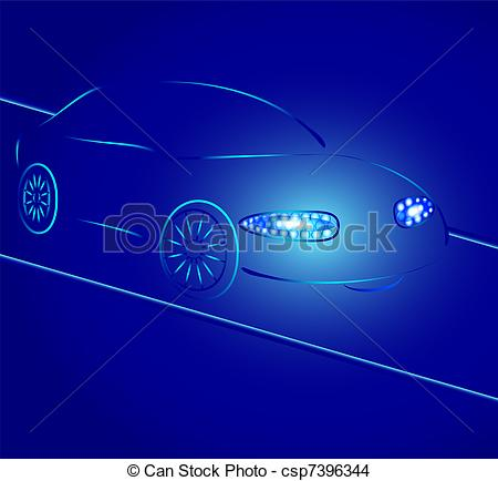 Taillights Vector Clipart Royalty Free. 33 Taillights clip art.