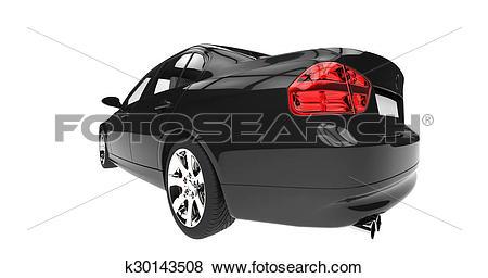 Stock Illustration of Extreme Closeup Taillights k30143508.