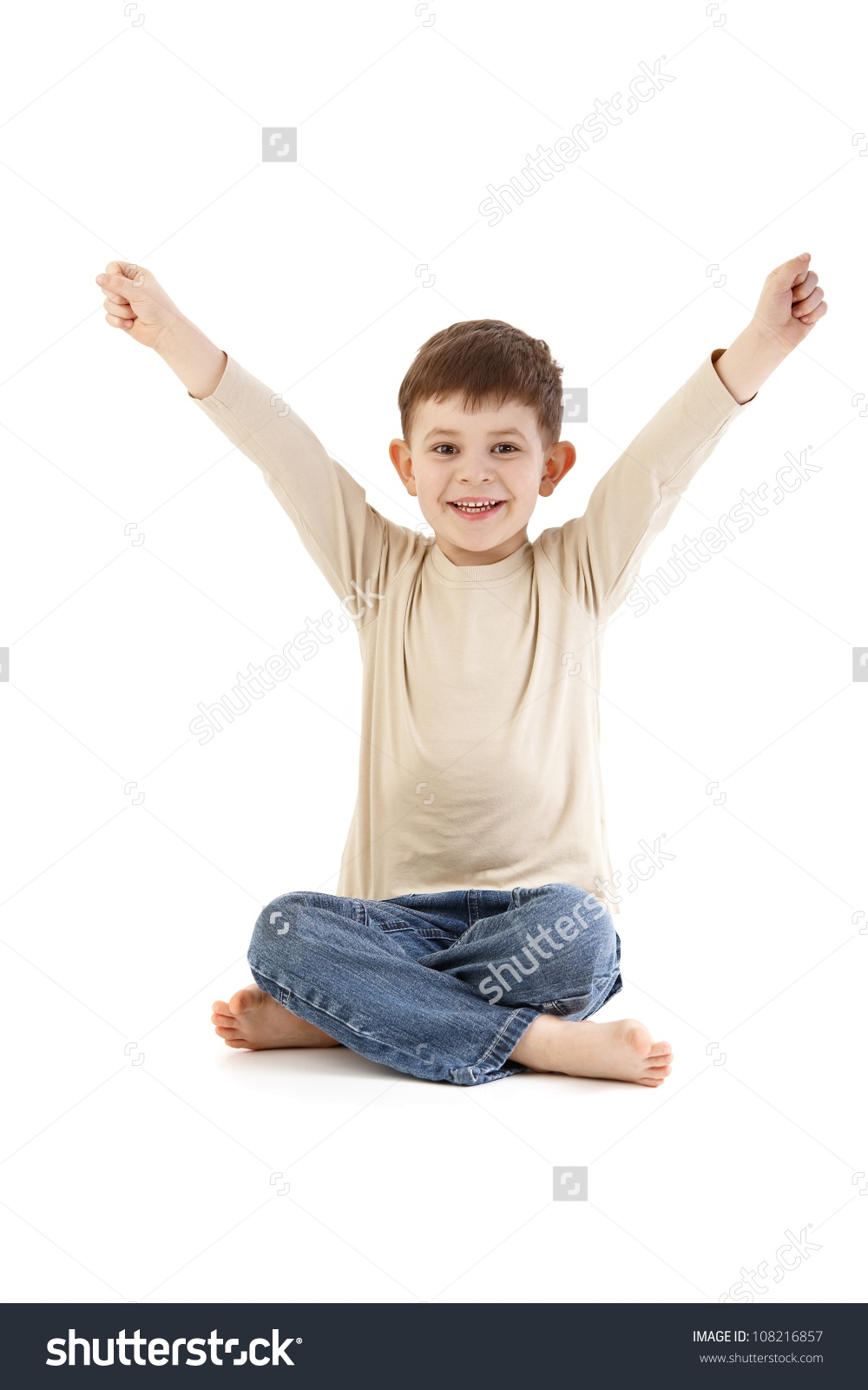 Little Boy Sitting On Floor Tailor Stock Photo 108216857.