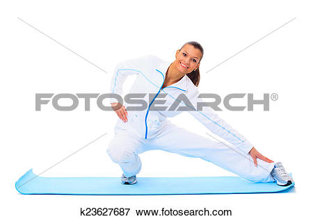 Picture of fitness woman making a break in tailor.