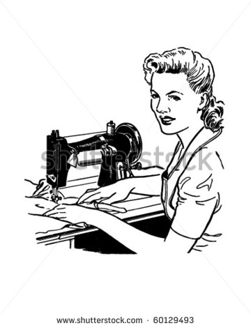 Ladies Tailor Clipart.
