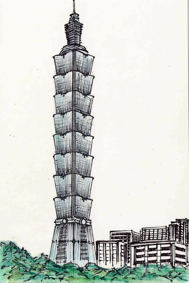 Taipei 101 clipart.