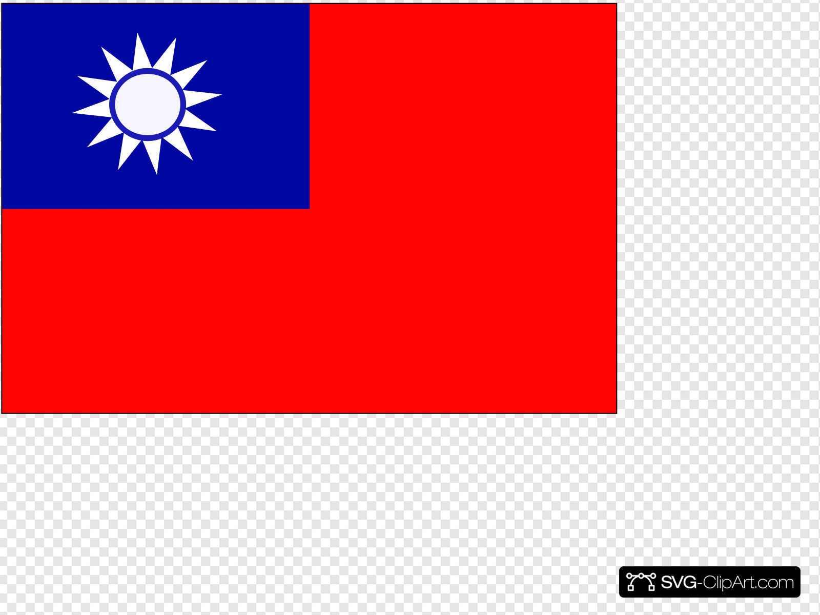 Taiwan Flag Clip art, Icon and SVG.