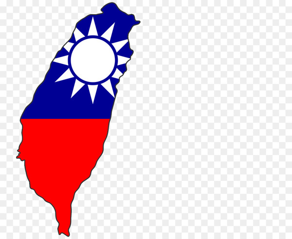 Taiwan Map Flag of the Republic of China.