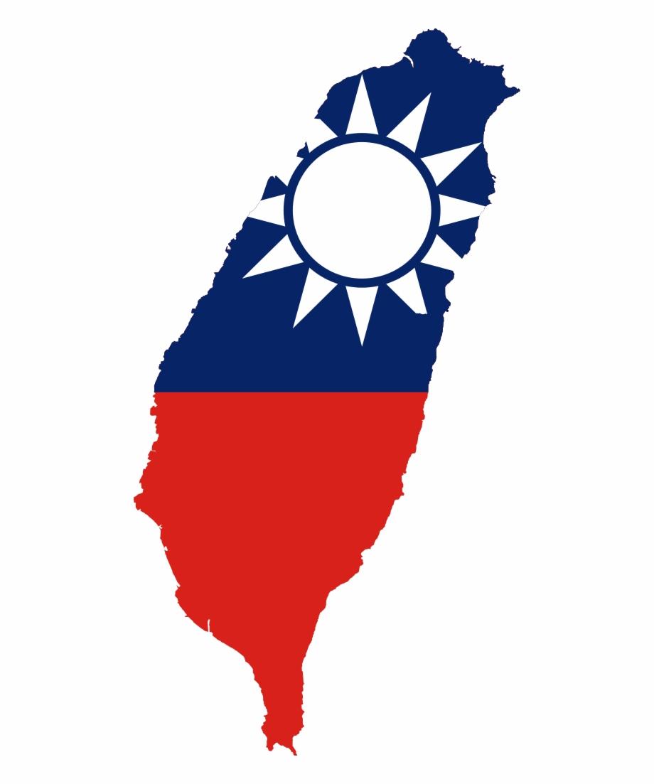 Flag Map Of Taiwan.