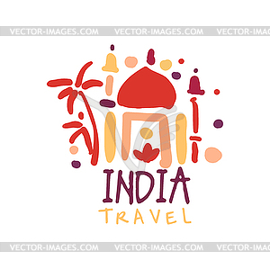 Travel to India logo with Taj Mahal.