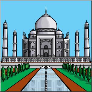 Clip Art: Taj Mahal Color I abcteach.com.