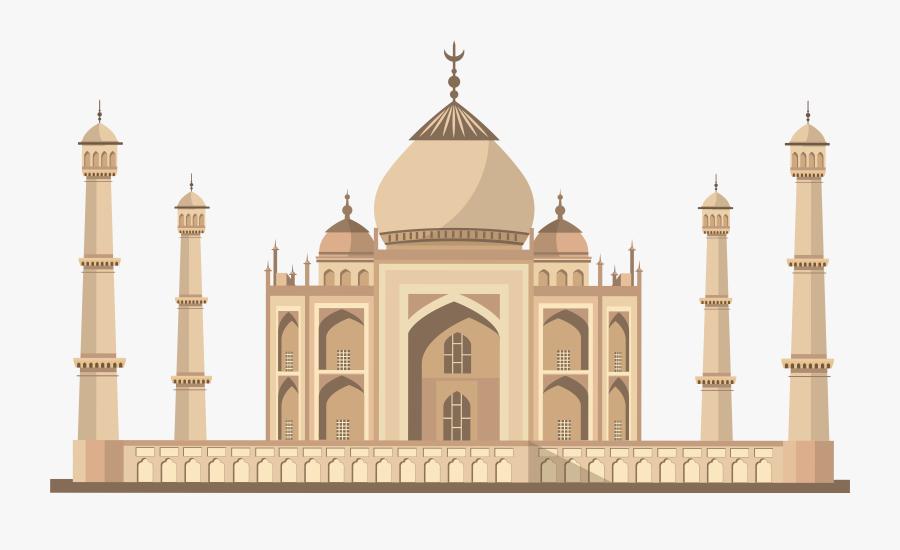 Taj Mahal India Png Clip Art.
