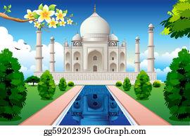 Taj Mahal Clip Art.