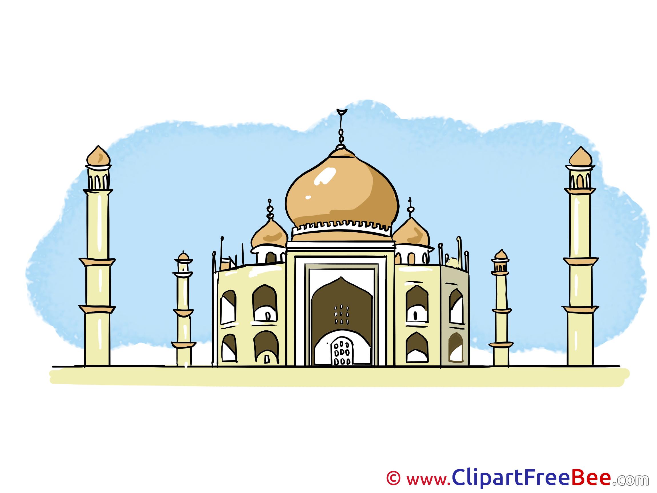 Taj Mahal Images Clipart.