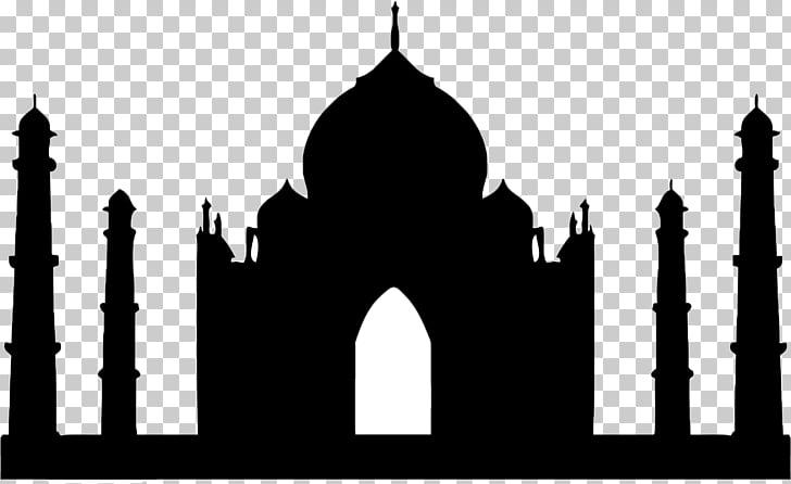 Taj Mahal graphics Badshahi Mosque Silhouette , taj mahal.