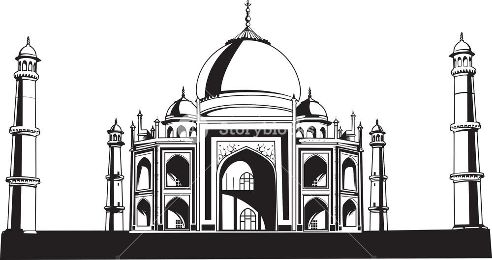 Taj Mahal Vector at GetDrawings.com.