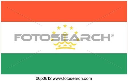 Tajikistan flag clipart.