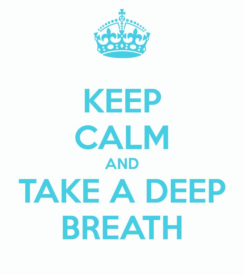 Take A Deep Breath clipart.