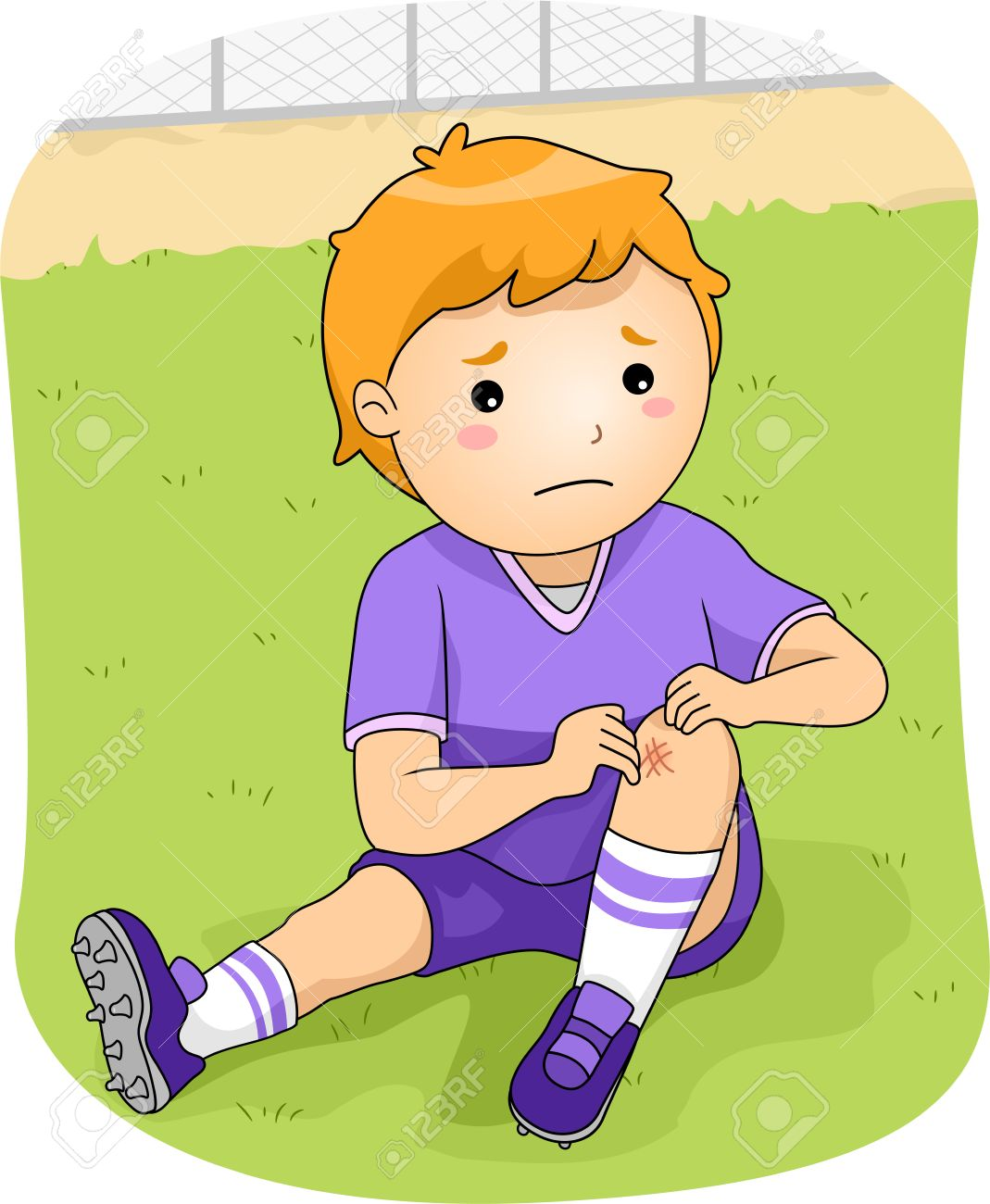 Boy With Knee Pain Clipart & Free Clip Art Images #28786.