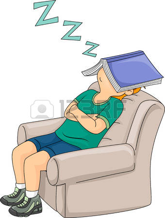 A Boy Taking A Nap Clipart.