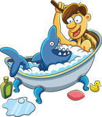 Taking bath Clipart EPS Images. 324 taking bath clip art vector.