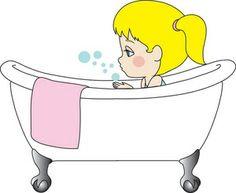 To Take A Bath Clipart.
