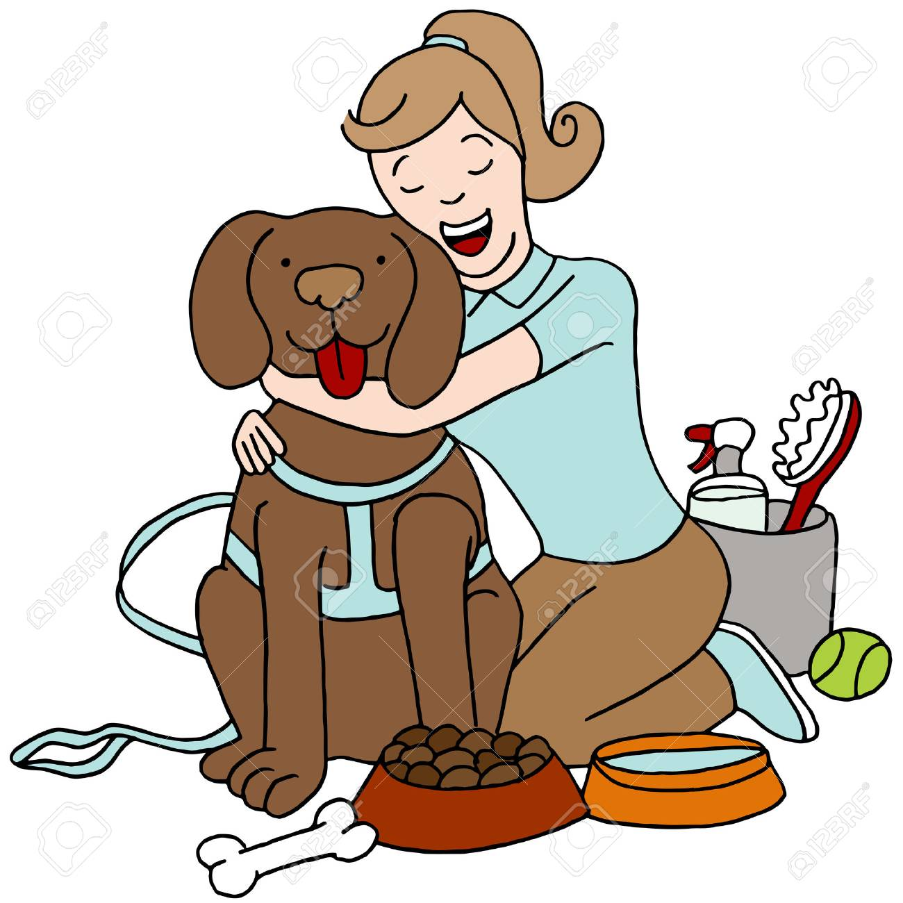 How To Take Care Of Animals Clipart.