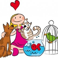 Taking Care Of Pets Clipart.