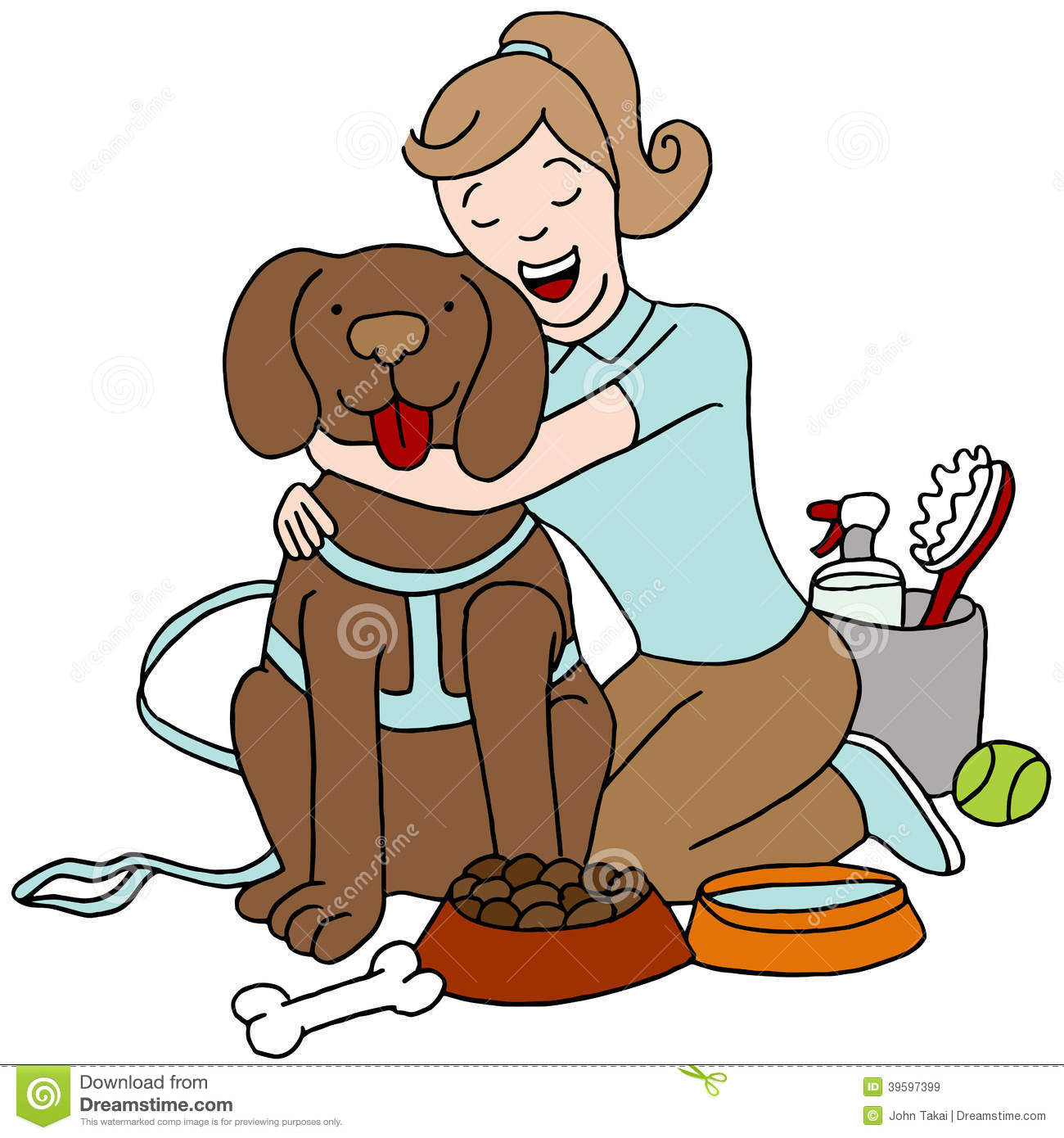 Taking Care Of Dogs Clipart.