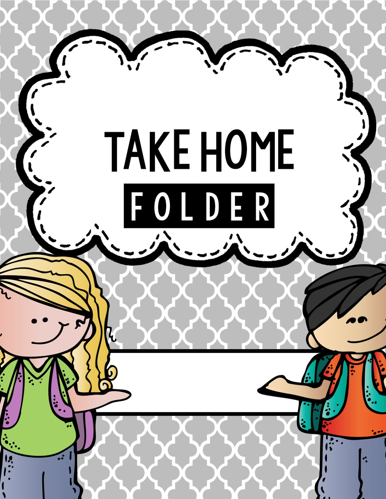 Take home folder clipart.