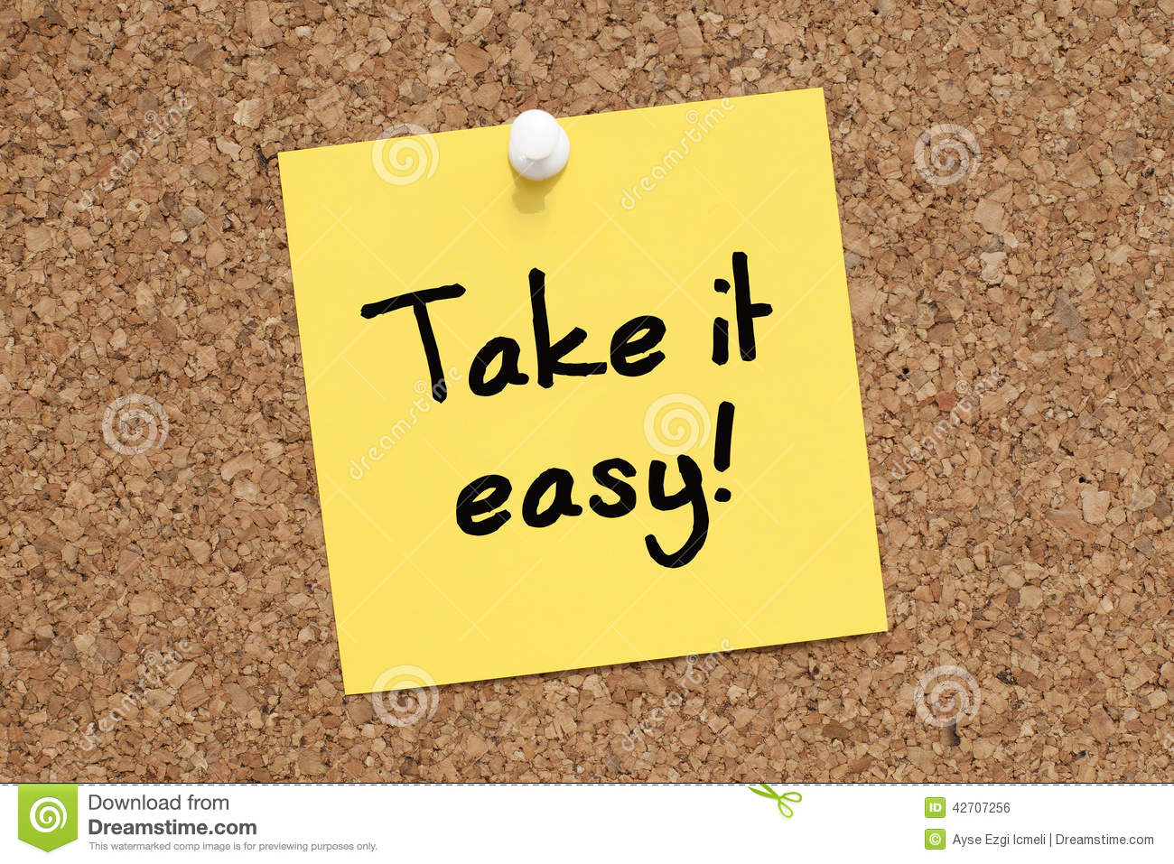 Take It Easy Royalty Free Stock Images.