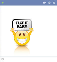 Take it easy clipart.