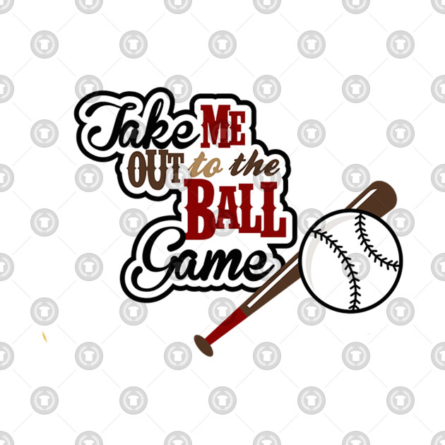 Library of take me out to the ballgame picture black and.