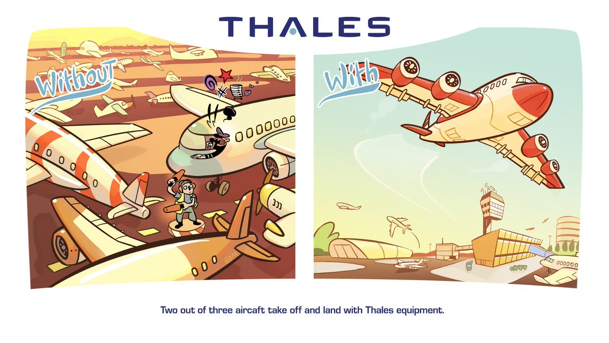 """Thales Group on Twitter: """"Did you know: Two out of three aircrafts."""