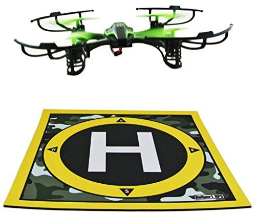 LANDING PAD & LAUNCH PAD: Take off & land remote control.