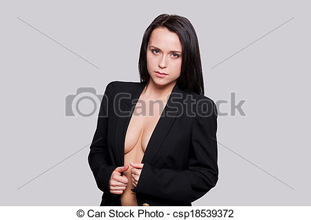Picture of Taking her suit off. Attractive young woman with.
