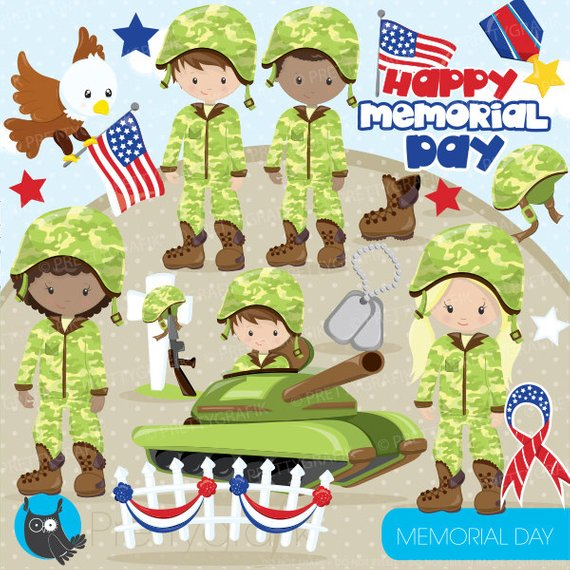 BUY 20 GET 10 OFF Memorial day clipart commercial use.