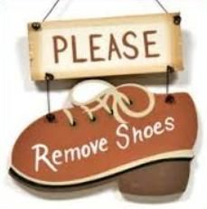 removing shoes clipart.