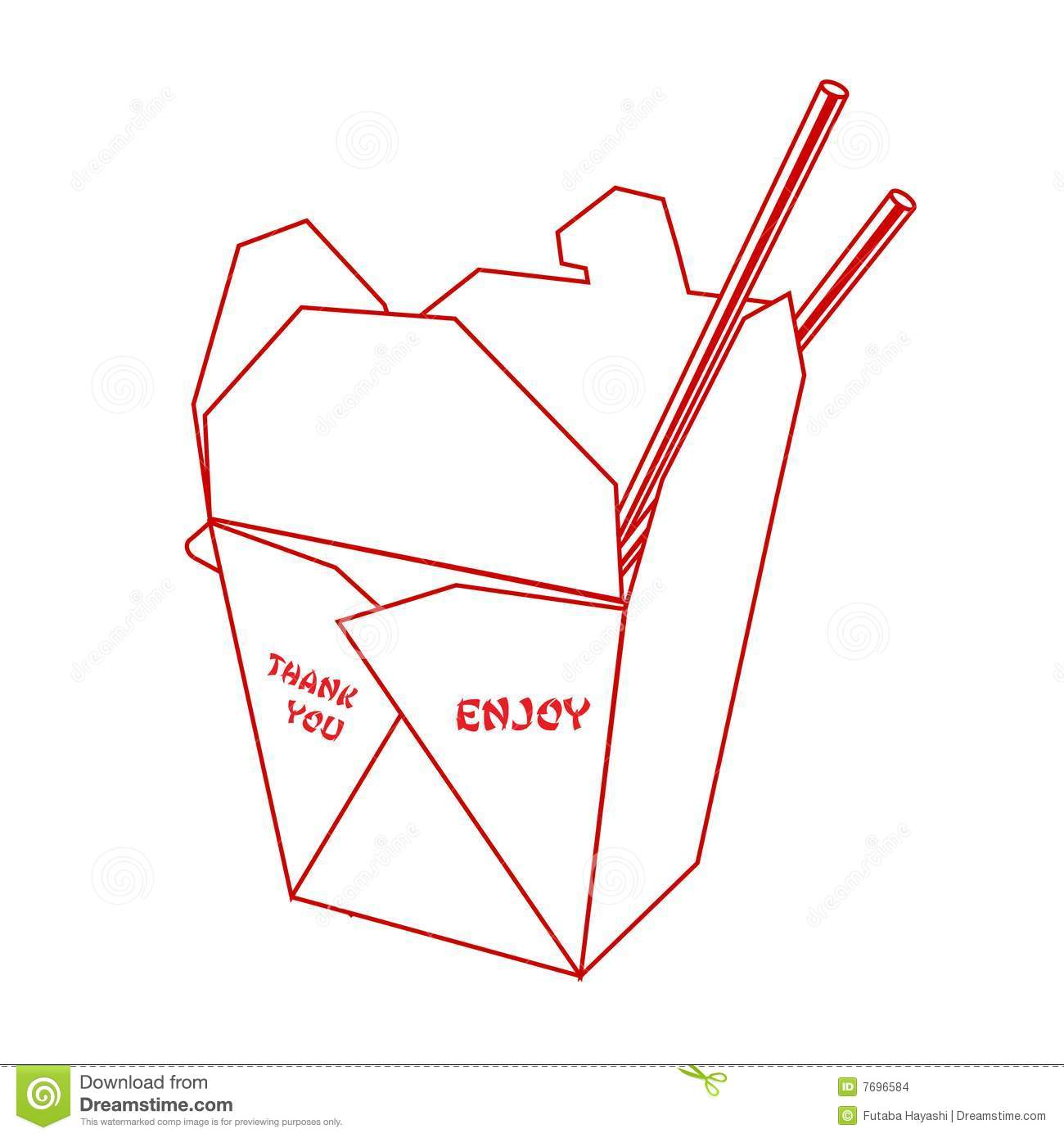 Chinese Takeout Clipart Chinese Takeout Box Stock #iVyZ0I.