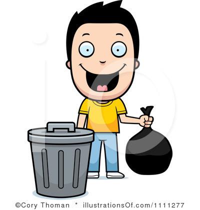 Take out garbage clipart.