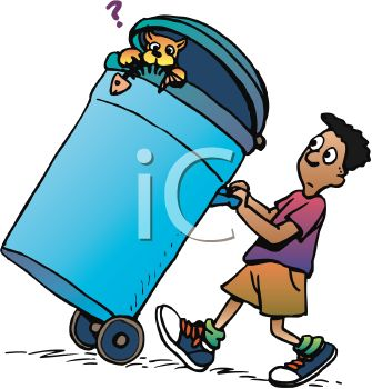 Taking out the garbage clipart » Clipart Station.