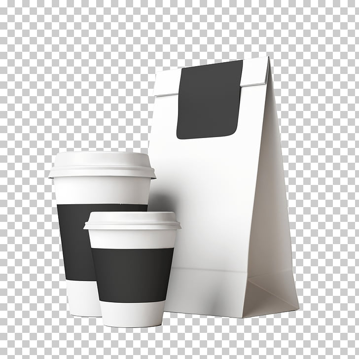 Coffee Paper bag Paper cup, Takeout bag PNG clipart.