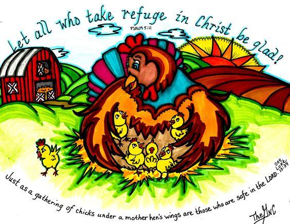 Take refuge in Him www.facebook.com/TheGoodNewsCartoon.