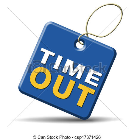 Clip Art of time out take a break leasure time off relaxation.