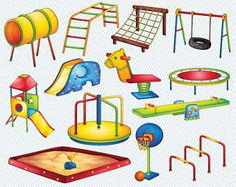 We Take Turns On On The Playground Clipart.