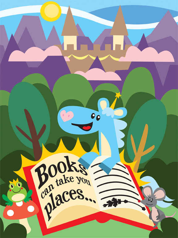 Kids Quote: Books can take you places...