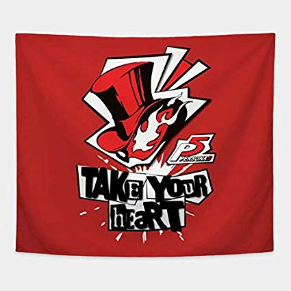 Cxiuxiu Tapestry Wall Hanging, Wall Tapestry with Persona 5.